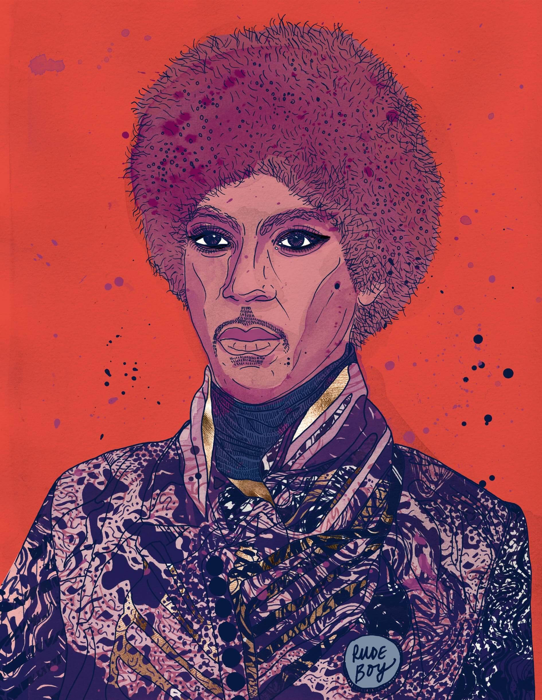 triplej_Annual2016_PortraitIllustration_Prince_10Cols
