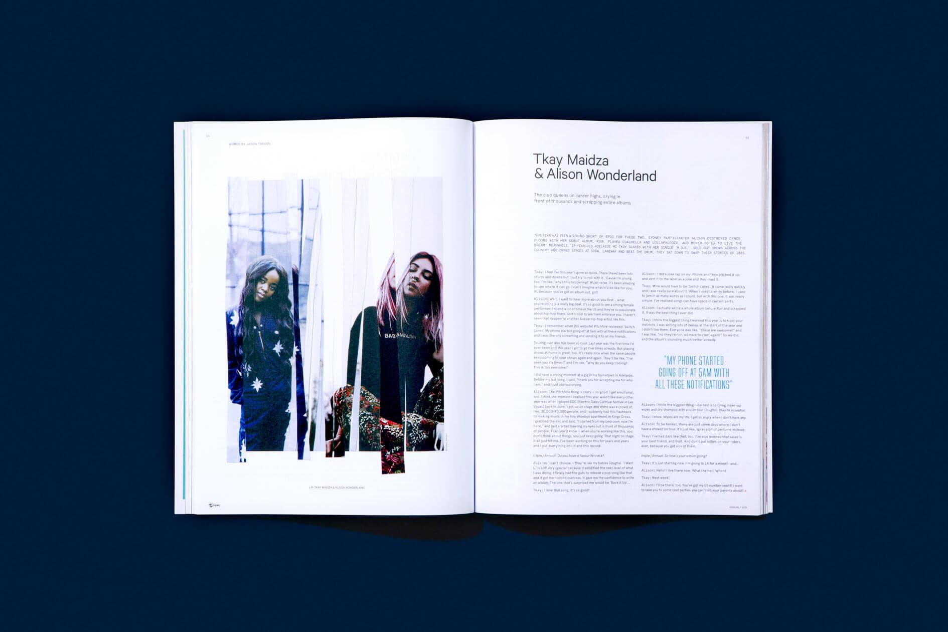 NatCarroll_triplej_Annual_2015_Magazine_TkayMaidza_AlisonWonderland_Spread_10col