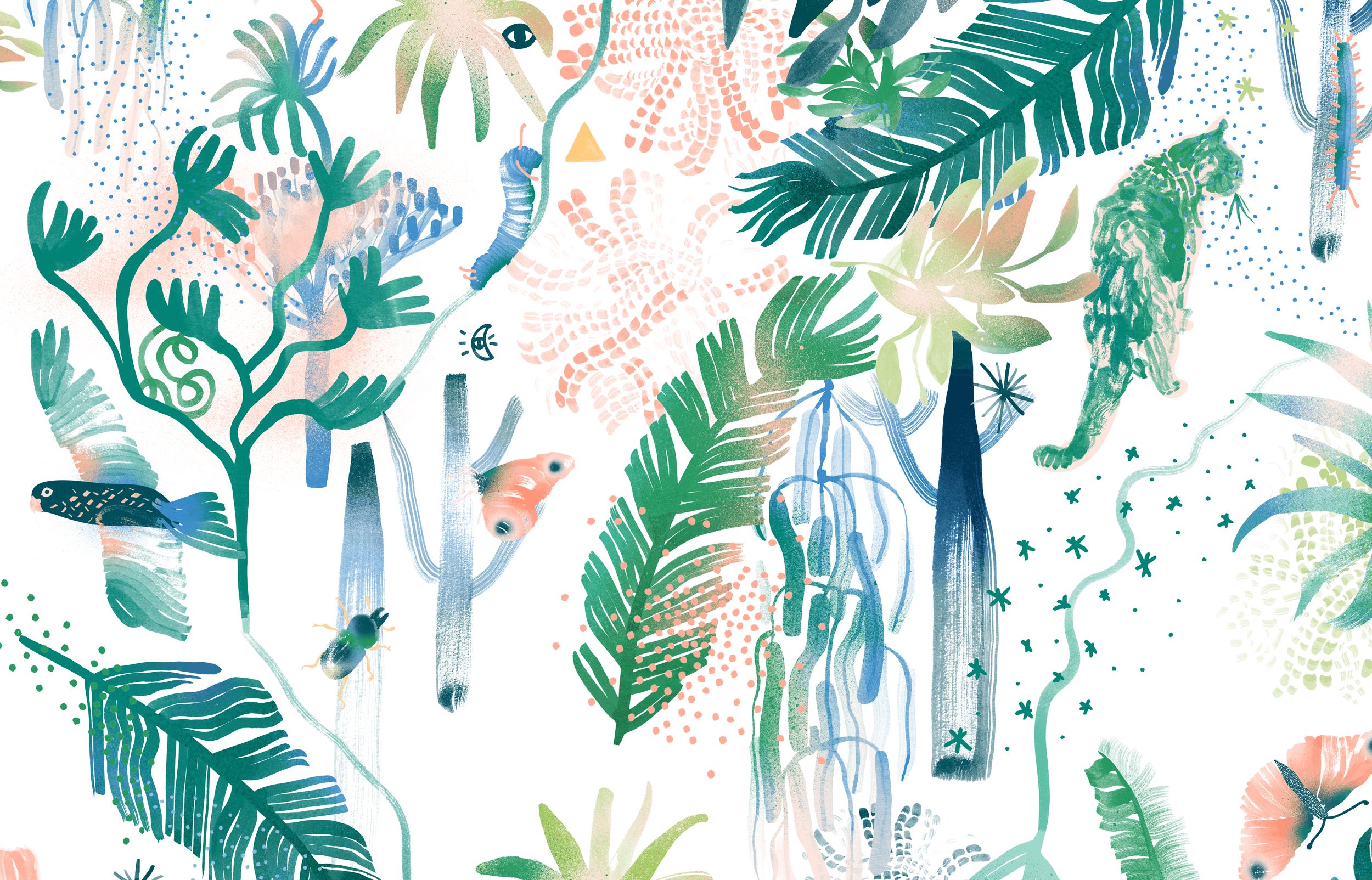 Adelaide-Women-Childrens-Hospital_Mural-Illustrations_Outdoor-Garden-Colour-A