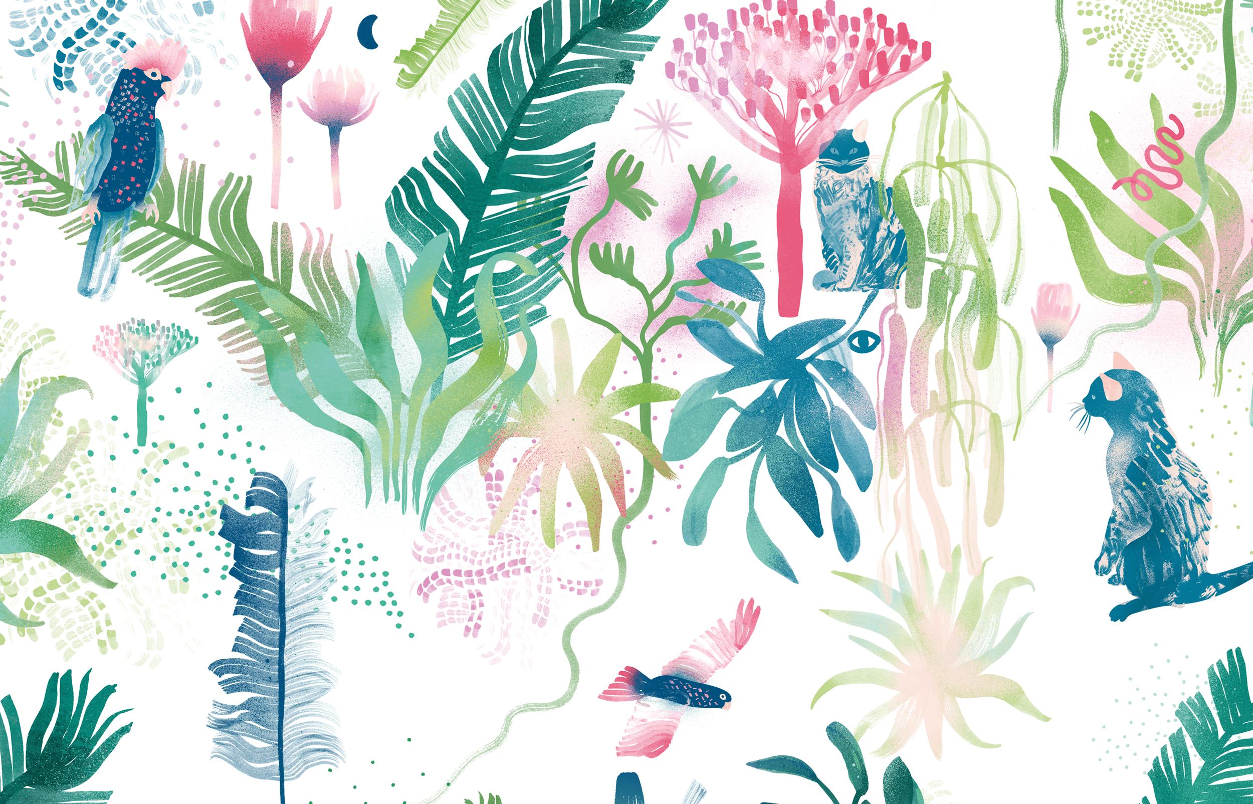 Adelaide-Women-Childrens-Hospital_Mural-Illustrations_Outdoor-Garden-Colour-B